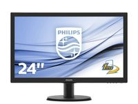 "Монитор 23.6"" Philips ""243V5LHAB"", Black"
