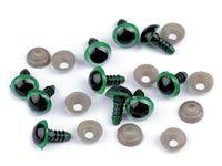 Ochi pentru jucării cu dispozitiv de siguranță, Ø10 mm / verde