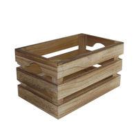 купить Ящик деревянный 260x160x140 мм, коричневый в Кишинёве