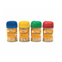Paterra Зубочистки деревянные, 200 шт. в пластиковой баночке