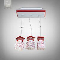 N&B Light Люстра Пиастра 10803-3 белый глянец/красный глянец