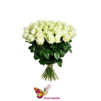 купить Премиум букет из 27 белых голландских роз 80-90СМ в Кишинёве