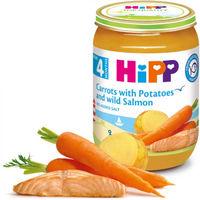 Hipp пюре морковь, картофель и лосось, 8+мес. 190г