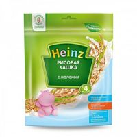 Heinz каша рисовая молочная, 4+мес. 250г