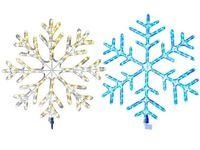 """Световая фигура """"Снежинка"""" LED, D80сm, цв тепл-бел, бел, син"""