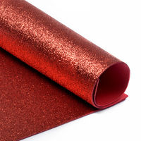 Foamiran cu sclipici Culoare: Roșu, A4