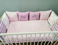 Комплект постельного белья в кроватку Pampy розовый Зигзаг