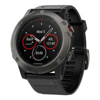 Часы Garmin Fenix 5X Sapphire - Slate grey with black band, 010-01733-01
