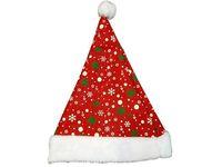 Шапка Деда Мороза с узором (золото-зеленым)
