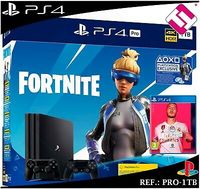 Game Console Sony PlayStation 4 Pro 1TB Black, 1 x Gamepad (Dualshock 4) + Fortnite + Fifa 2020