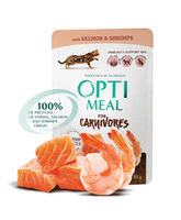 Optimeal с лососем и креветками в соусе ,85 г