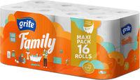 GRITE - Туалетная бумага FAMILY 3 слоя 16 рулона 18,75м