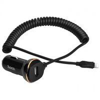 Автомобильное зарядное устройство Hoco Z14/Lightning Cable 1USB 3. 4A (Черная)