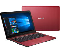"NB ASUS 15.6"" X541SA Red (Pentium N3710 4Gb 1Tb) 15.6"" HD (1366x768) Non-glare, Intel Pentium N3710 (4x Core, 1.6GHz - 2.56GHz, 2Mb), 4Gb (OnBoard) PC3-12800, 1Tb 5400rpm, Intel HD Graphics, HDMI, No ODD, 100Mbit Ethernet, 802.11n, Bluetooth, 1x USB 3.1 Type C, 1x USB 3.0, 1x USB 2.0, Card Reader, Webcam, DOS, 3-cell 36 WHrs Li-Ion Battery, 2.0kg, Red"