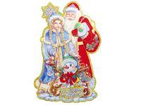 """купить Картинка-декор на окно/стену """"Дед Мороз и Снегурочка"""" 52cm в Кишинёве"""