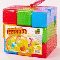 M Toys кубики Цветные, 27шт