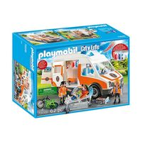 City Life Ambulance with Light and Sound Multi-Coloured, PM70049