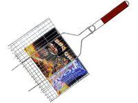 Решетка для гриля BBQ 26X37cm, с деревянной ручкой