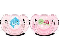 Avent SCF169/38 Пустышка 6-18 мес., дизайн для девочек, 2 шт, дельфин + черепашка