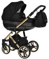 Baby Merc Коляска 2-в-1 Faster 3 L/143 чёрный/золото