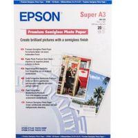 EPSON Premium Semigloss Photo Paper, A3, 20 Sheets