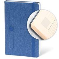 AKKLAS Ежедневник недатир. PEN 13x21 см, 96 л, резинка, синий