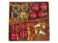 Набор украшений (шары, барабаны, колокольчики, подарки),16шт