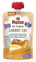 Piure de morcovi, mango, banane și pere Holle Bio Organic Carrot Cat (6 luni+), 100g