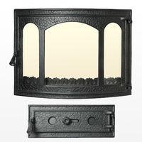 Дверца чугунная со стеклом Weekend - Panoramică Rippe