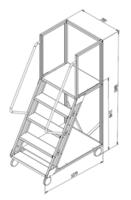 купить Лестница платформа Gama Cirrus 1148x1079x700 мм,  4+1 ступений в Кишинёве