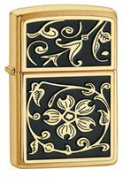Zippo 20903 Gold Floral Flourish
