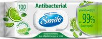 Bлажные салфетки Smile антибактериальные с витаминами, 100 шт.