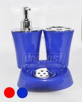 купить Набор 3-аксес.д/ванной, пластик глянец  в ассорт.(треуг) (10232) в Кишинёве