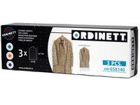 Чехлы для одежды 65X140cm Ordinett, 3шт, п/э