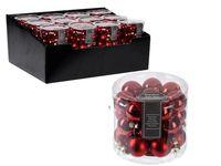 cumpără Set globuri din sticla 24X25mm, in cilindru, rosii în Chișinău