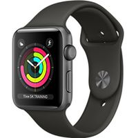 Apple Watch Series 3, 38mm, Space Grey Aluminium Case, Sport Band, Grey