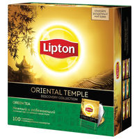 Lipton зеленый чай Oriental Temple, 100 пак.
