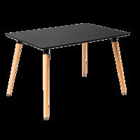 cumpără Masă dreptunghiulară cu picioare din lemn de culoare neagră. Dimensiuni: 1600x900x750 mm în Chișinău