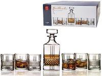 Набор штоф и 6 тумблеров для виски 340ml Brilliante