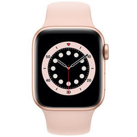 Apple Watch Series 6 GPS, 40mm Aluminum Case with Pink Sand Sport Band