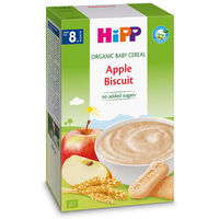 Terci organic Hipp din cereale integrale, mere și biscuiți fără lapte (8+ luni), 200 gr.