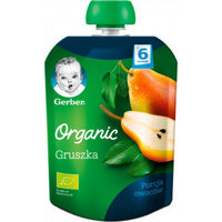 Gerber piure Organic din pere 4+ luni, 90 gr