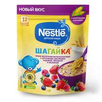 Nestle каша Шагайка мультизлаковая молочная земляника, черника и малина. 12+ мес, 190 гр