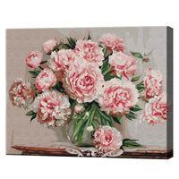Bujori din grădina, 40х50 cm, pictură pe numere  BS5581