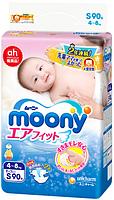 Подгузники Moony S (4-8 kg) 90 шт