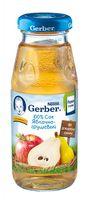 Gerber сок яблочно-грушевый 175мл.(5+)