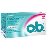 O.B. тампоны Pro Comfort mini, 16 шт