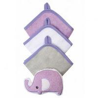 Набор из 3 полотенец и мочалки Babyono фиолетовый