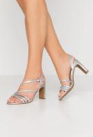 Sandale The Divine Factory Argintiu the divine factory sandals silver