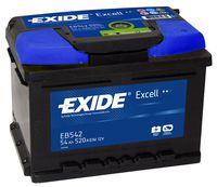 **АКБ Exide  EXCELL 12V  54Ah  520EN  242x175x175 -/+, EB542
